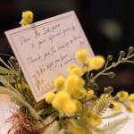 Wattle Tokyo - ワトルの花とともにこんなステキなメッセージが