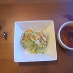食堂うさぎや - 料理写真:コールスロー、ミネストローネスープ♪