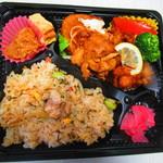 ランチ ボックス キッチン - ザンギ・炊き込みご飯弁当 500円(税込)【2019年3月】