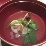 和食や ちそう - 松茸 蓮根豆腐