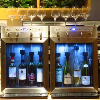 こだわりのグラスワイン/Funvinoワインサーバーを導入