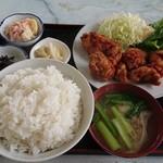 きうち食堂 - 料理写真:唐揚げ定食ご飯大盛り