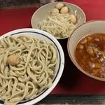 蓮爾 - 料理写真:【2019.3.12】小つけ麺850円 麺増し&ヤサイ増し+うずら100円