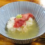 柴崎亭 - 煮干しスープでお茶漬け風にしてみた