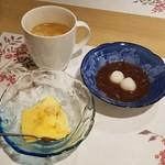 彩花亭 - ランチのデザート