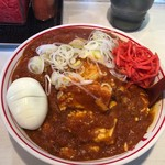 蒙古タンメン中本 - 樺太丼+ゆで玉子