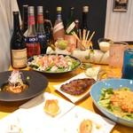 HAMAMORI - 春の宴150分6,000円コース一例