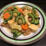 103908011 - ニガウリ・ヘチマと豆腐の味噌炒め