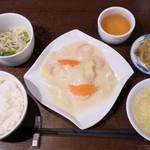 103910676 - 特製チャイナ定食(海老と白菜のクリーム煮) 1000円