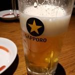 駒八 - サッポロ黒ラベル生ビール2019.3.15