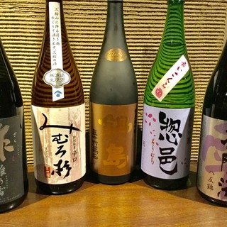 数多くの日本酒を取り揃えております!