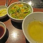 Ittetsu Grazie - サラダ、スープ、小鉢