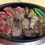 炭火焼きステーキ 肉押し -