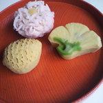 そえ田 - 三種の生菓子