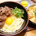 二◯加屋長介 - 肉かま玉うどん&丼セット