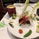 103962875 - 畑のお野菜たっぷり栄養満点のバーニャカウダ♪ 特製ソースにつけて 1,280円