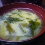 レストラン ベア - 味噌汁