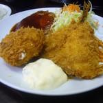 レストラン ベア - 鯵フライ、クリームコロッケ、ハンバーグ