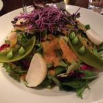 下町バル ながおか屋 - 春野菜サラダ! ドレッシングも美味。