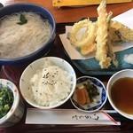 百年庵 - そうめん・天ぷらセット=1200円
