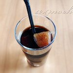 ラ フォルトゥーナ - 食後のアイスコーヒー。氷もコーヒーです^^