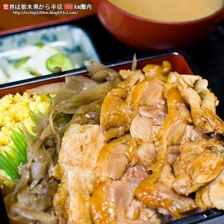 玉屋旅館 - 料理写真:しゃも弁当(御飯大盛り)