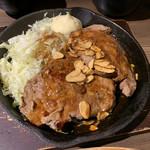肉バル 東京グリルセンター - トンテキ定食ダブル1380円