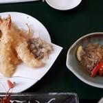 魚寅 - 葉山の渚 その2 天婦羅と酢の物