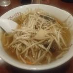 Gansojuuhachiban - 『もやしソバ』は炒めが入るので味濃いめ!