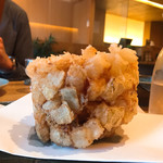亀蔵 - 小海老と貝柱の海鮮かき揚げ