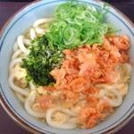 四代目横井製麺所 - 桜海老と青さ海苔玉子とじうどん。大630円也 横めん季節限定
