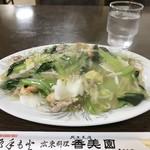 香美園 - あんかけ焼そば650円をいただきました(2019.3.19)