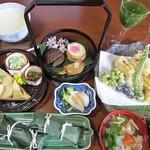 心々亭茶寮 - ザ・精進コースの4104円全景。