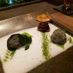 104014350 - 先付 二種の根菜サラダ~枯山水風~