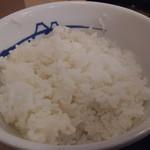 松屋 - ご飯は並み