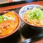 丸亀製麺 - ぶっかけ(並)冷 カツ丼(小)