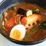 SPICE nine - スープカレー野菜アップ