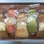 フジヤマクッキー - 10枚入り プレーン&ホワイトチョコ  アップ