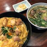 104047402 - 京赤地鶏の親子丼と小鴨なんば