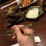104049409 - 平らなこの箸。意外に持ちやすい!