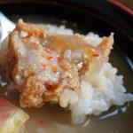 きそば 札幌 小がね - 味噌汁に浸しておじや風