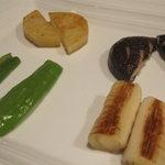 ふじさき屋 - じゃが芋、椎茸、ピーマン、長葱