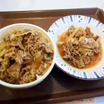 すき家 - 牛丼並盛と、牛皿並盛