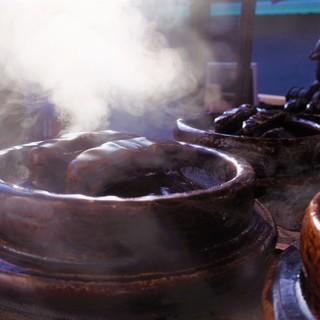 天然水と土鍋で炊いた京北のお米