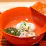 与志福 - 海老真薯、 千葉県の蛤、 若布