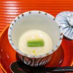 与志福 - 河豚の白子の茶碗蒸し