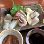 シーサイド うらどめ - 新鮮で質が良い地魚の刺身