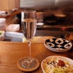 104070705 - 茅ヶ崎の天青 5勺と白菜ガーリック