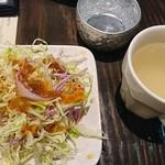 クルア チョントーン - ランチのサラダとスープ