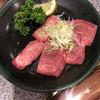 焼肉レストラン牛車 - 料理写真:上牛タン  3枚先に焼いちゃった(^^;;